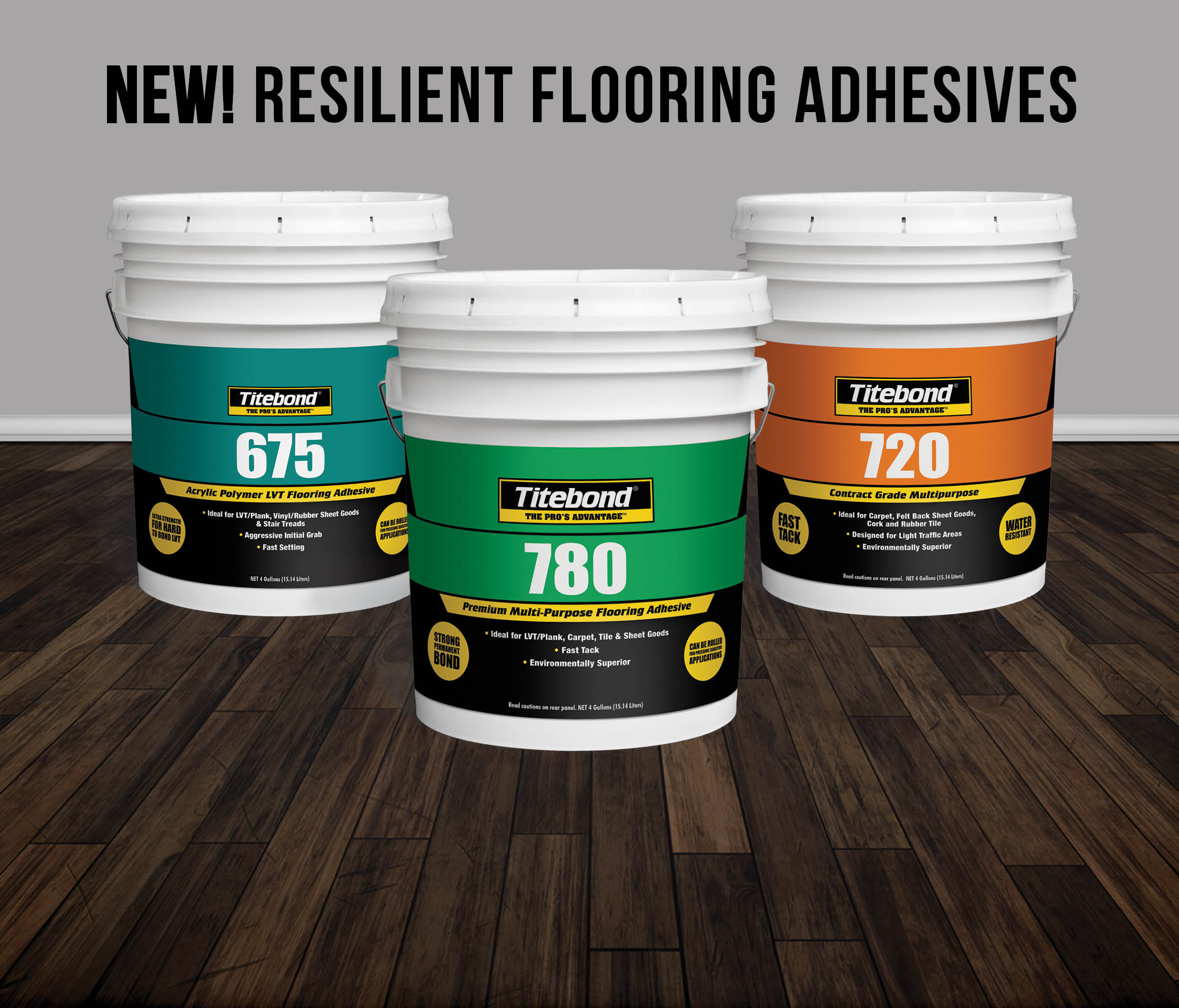 Titebond Offers the Right Flooring Adhesive to Install All Types of Resilient Flooring